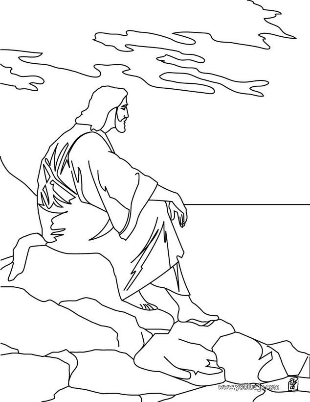 Dibujos para colorear jesús - es.hellokids.com