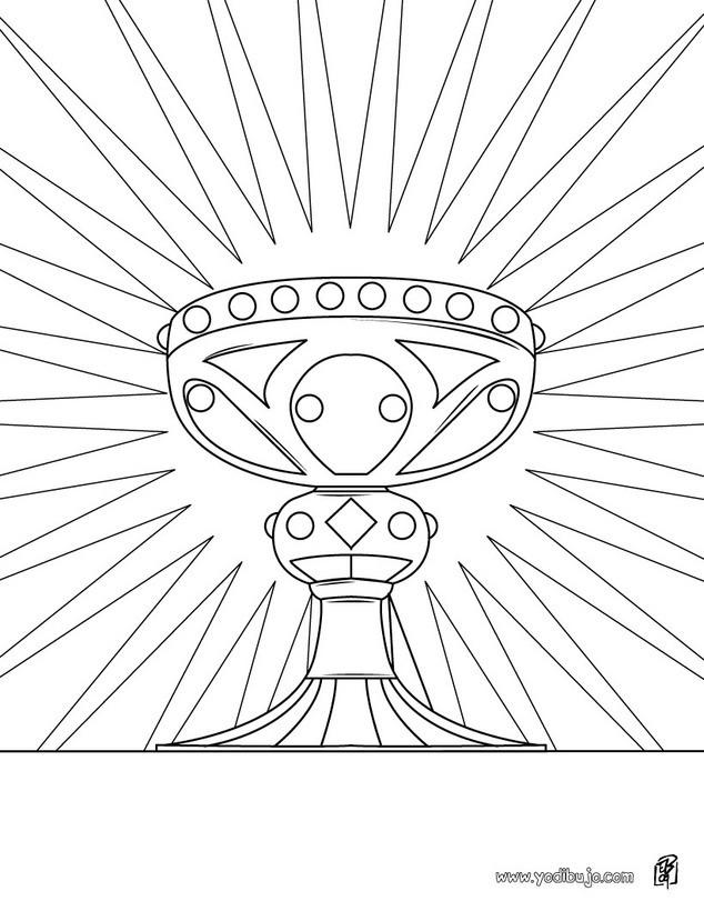 Dibujo para colorear : Santo Calíz
