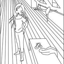 Dibujo para colorear JEANNE POESIE BAILANDO - Dibujos para Colorear y Pintar - Dibujos para colorear PERSONAJES - Dibujos para colorear y pintar PERSONAJES - MUSEWORLD para colorear - Dibujos para colorear JEANNE POESIE EN PARIS