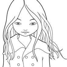 Dibujo para colorear JEANNE POESIE - Dibujos para Colorear y Pintar - Dibujos para colorear PERSONAJES - Dibujos para colorear y pintar PERSONAJES - MUSEWORLD para colorear - Dibujos para colorear JEANNE POESIE EN PARIS