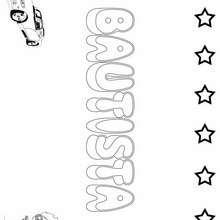BAUTISTA colorear nombre niño - Dibujos para Colorear y Pintar - Dibujos para colorear NOMBRES - Dibujos para pintar NOMBRES NIÑOS