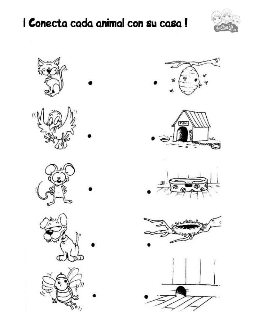 Juegos de puntos ANIMALES - 23 juegos imprimibles para niños