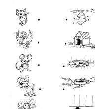 Juego de puntos CASA - Juegos divertidos - Juegos de UNIR PUNTOS - Juegos de puntos ANIMALES