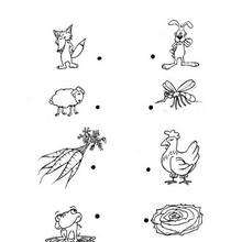 Juego de puntos COMIDA - Juegos divertidos - Juegos de UNIR PUNTOS - Juegos de puntos ANIMALES