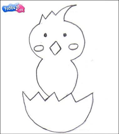 Aprender a dibujar : Pollito de Pascua