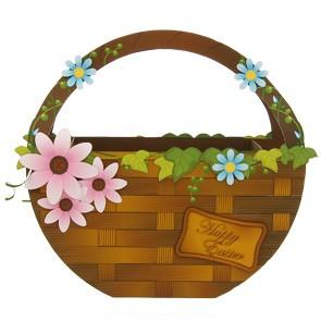 Haz Clic En La Imagen De La Canasta De Pascua Con Flores Para Imprimir