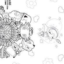 Dibujo para colorear : Xochi y amigos