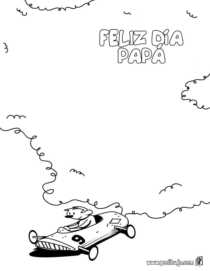 Dibujo para colorear : dia del padre COCHE