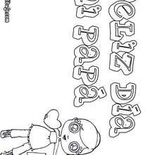Dibujo dia del padre NIÑA MENSAJE  - Dibujos para Colorear y Pintar - Dibujos para colorear FIESTAS - Dibujos para colorear DIA DEL PADRE