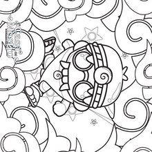 Dibujo para colorear : CASA DEL MOSTRO