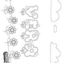 VERA colorear nombre niña - Dibujos para Colorear y Pintar - Dibujos para colorear NOMBRES - Dibujos para colorear NOMBRES NIÑAS