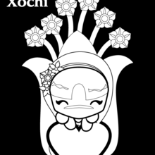 Dibujo para colorear : XOCHI FLORES