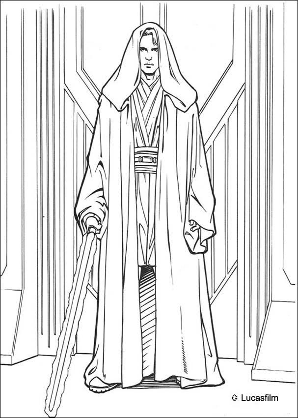 Dibujo Para Colorear   Anakin Skywalker