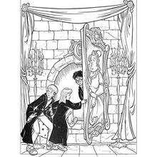 Colorear Hermione y sus amigos - Dibujos para Colorear y Pintar - Dibujos de PELICULAS colorear - Dibujos para colorear HARRY POTTER - Dibujos para colorear HERMIONE GRANGER