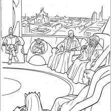 El Consejo de los caballeros Jedi - Dibujos para Colorear y Pintar - Dibujos de PELICULAS colorear - Dibujos para colorear STAR WARS - Dibujos para colorear JEDI STAR WARS