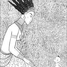 Dibujo de karaba y kiriku - Dibujos para Colorear y Pintar - Dibujos de PELICULAS colorear - Dibujos para colorear KIRIKU  - Dibujos para colorear KIRIKU Y LA BRUJA