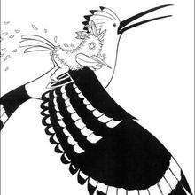 Dibujo kiriku y el pajaro - Dibujos para Colorear y Pintar - Dibujos de PELICULAS colorear - Dibujos para colorear KIRIKU  - Dibujos para pintar y colorear KIRIKU