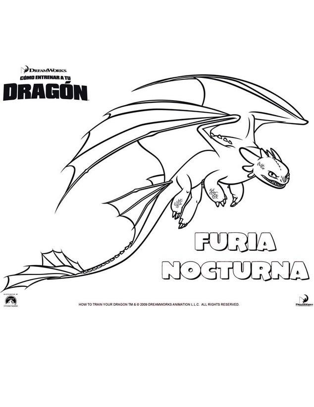 Dibujos para colorear furia nocturna - es.hellokids.com