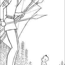 Dibujo para colorear guerrero kiriku - Dibujos para Colorear y Pintar - Dibujos de PELICULAS colorear - Dibujos para colorear KIRIKU  - Dibujos para colorear e imprimir KIRIKU