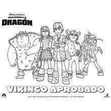 Dibujo para colorear : VIKINGO APROBADO