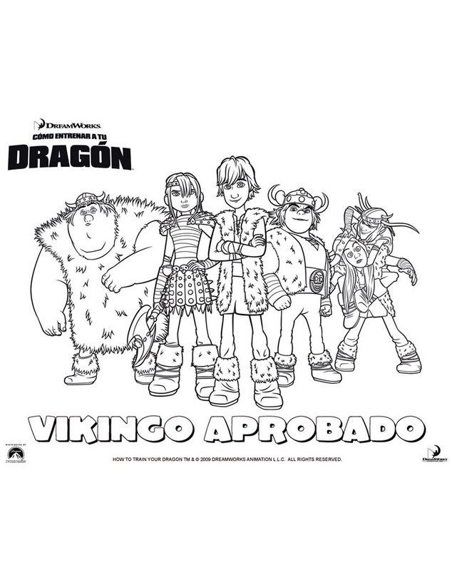 Dibujos para colorear vikingo aprobado - es.hellokids.com
