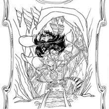 Dibujos de Hagrid con Harry para colorear - Dibujos para Colorear y Pintar - Dibujos de PELICULAS colorear - Dibujos para colorear HARRY POTTER - Dibujos para colorear RUBEUS HAGRID