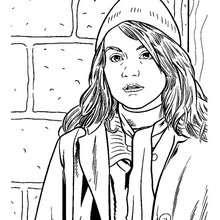 Retrato de Hermione para colorear - Dibujos para Colorear y Pintar - Dibujos de PELICULAS colorear - Dibujos para colorear HARRY POTTER - Dibujos para colorear HERMIONE GRANGER