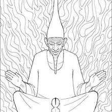 Dibujo de kiriku con el gran sabio - Dibujos para Colorear y Pintar - Dibujos de PELICULAS colorear - Dibujos para colorear KIRIKU  - Dibujos para pintar KIRIKU