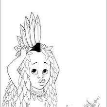 Dibujo kiriku disfrazado - Dibujos para Colorear y Pintar - Dibujos de PELICULAS colorear - Dibujos para colorear KIRIKU  - Dibujos para pintar KIRIKU