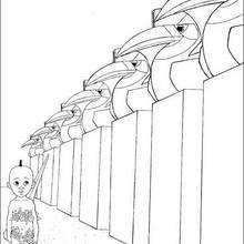 Dibujo para pintar kiriku en el termitero - Dibujos para Colorear y Pintar - Dibujos de PELICULAS colorear - Dibujos para colorear KIRIKU  - Dibujos para colorear e imprimir KIRIKU