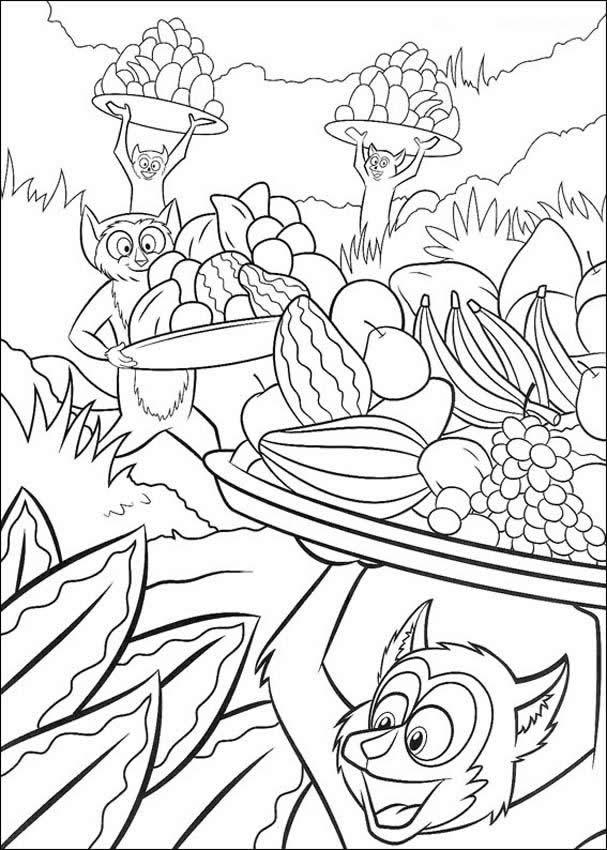 ... madagascar para pintar animales - Dibujos para pintar MADAGASCAR