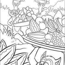 Dibujo madagascar para pintar animales  - Dibujos para Colorear y Pintar - Dibujos de PELICULAS colorear - Dibujos para colorear y pintar MADAGASCAR - Dibujos para pintar MADAGASCAR