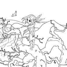 dibujo para colorear un indio sioux - Dibujos para Colorear y Pintar - Dibujos para colorear PERSONAJES - Vaqueros e indios: dibujos para pintar