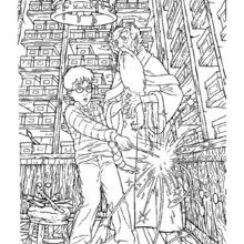 Dibujo para colorear : Harry y Dumbledore