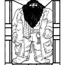 Dibujo del gigante Hagrid para pintar - Dibujos para Colorear y Pintar - Dibujos de PELICULAS colorear - Dibujos para colorear HARRY POTTER - Dibujos para colorear RUBEUS HAGRID