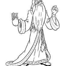 Dibujo Albus Dumbledore para pintar - Dibujos para Colorear y Pintar - Dibujos de PELICULAS colorear - Dibujos para colorear HARRY POTTER - Dibujos para colorear ALBUS DUMBLEDORE