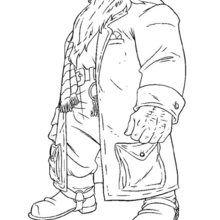 Dibujo para colorear Hagrid - Dibujos para Colorear y Pintar - Dibujos de PELICULAS colorear - Dibujos para colorear HARRY POTTER - Dibujos para colorear RUBEUS HAGRID