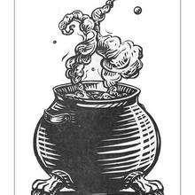 Dibujo del caldero mágico para pintar - Dibujos para Colorear y Pintar - Dibujos de PELICULAS colorear - Dibujos para colorear HARRY POTTER - Dibujos para pintar HARRY POTTER