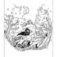Dibujo para pintar de Harry Potter con el centauro - Dibujos para Colorear y Pintar - Dibujos de PELICULAS colorear - Dibujos para colorear HARRY POTTER - Dibujos para pintar HARRY POTTER