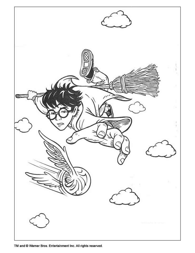 Dibujos para colorear HARRY POTTER - 33 dibujos de las peliculas ...