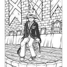 Dibujo de Harry Potter con el sombrero mágico - Dibujos para Colorear y Pintar - Dibujos de PELICULAS colorear - Dibujos para colorear HARRY POTTER - Dibujos para pintar HARRY POTTER