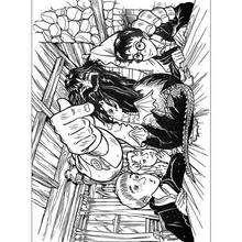 Dibujo para colorear : Hagrid con sus amigos y su dragon