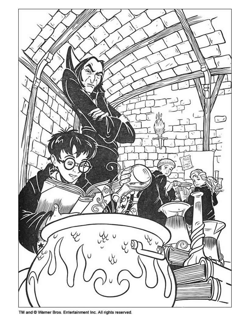 Dibujos para colorear harry potter y el espejo mágico - es.hellokids.com