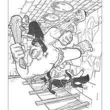 Dibujo del ogro y Harry para colorear - Dibujos para Colorear y Pintar - Dibujos de PELICULAS colorear - Dibujos para colorear HARRY POTTER - Dibujos para pintar HARRY POTTER