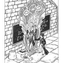 Dibujo de Harry Potter y el espejo mágico - Dibujos para Colorear y Pintar - Dibujos de PELICULAS colorear - Dibujos para colorear HARRY POTTER - Dibujos para colorear e imprimir HARRY POTTER