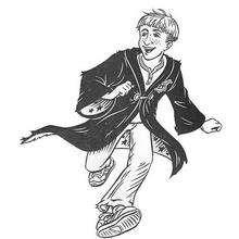 Dibujo para pintar de RON WEASLEY - Dibujos para Colorear y Pintar - Dibujos de PELICULAS colorear - Dibujos para colorear HARRY POTTER - Dibujos para colorear RON WEASLEY