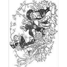 Dibujo para colorear : Hermione y sus amigos