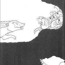 Dibujo de kiriku en las galerias subterraneas - Dibujos para Colorear y Pintar - Dibujos de PELICULAS colorear - Dibujos para colorear KIRIKU  - Dibujos para pintar y colorear KIRIKU