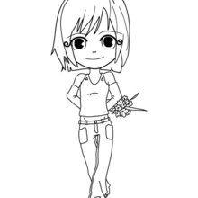 Dibujo dia de la madre JOVENCITA - Dibujos para Colorear y Pintar - Dibujos para colorear FIESTAS - Dibujos para colorear DIA DE LA MADRE