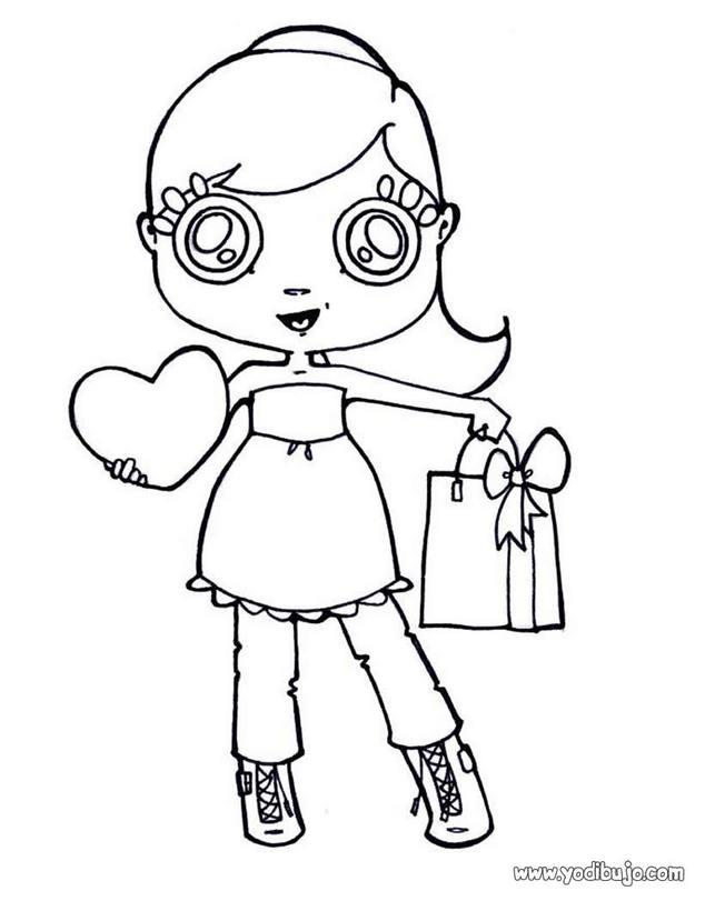 Dibujos para colorear dia de la madre niÑa corazon - es.hellokids.com